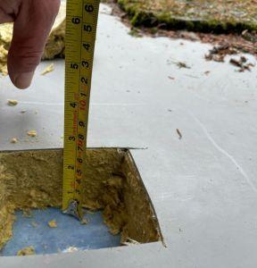 Sampling during a flat roof survey